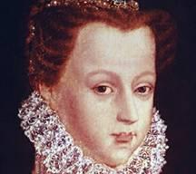 Ritratto di Maria Stuarda. Sembra che un affezionato cagnolino abbia accompagnato la regina fino alla morte