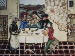 Ein mittelalterliches Bankett. Einige Regeln der Etikette dann, Jetzt scheinen sie wirklich lustig