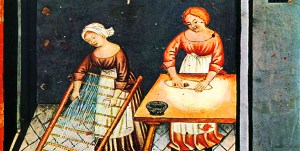 Women in the kitchen in the middle ages
