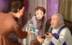 Anne of Green Gables, Illustration von der Karikatur basierend auf den Romanen von Lucy Maud Montgomery