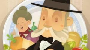Pellegrino Artusi in a video game. La conserva di more è una delle tante ricette da lui raccolte nel famoso testo che porta il suo nome
