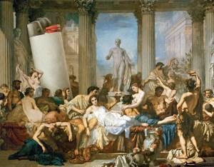 Um banquete em Roma Antiga. A ressaca estava na agenda
