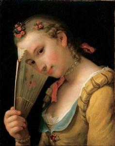 Una dama del XVIII secolo. Alcune dame francesi, dopo il 14 Luglio 1789, si fecero confezionare gioielli con frammenti della Bastiglia