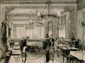 Un elegante caffè nella Parigi del '700