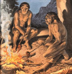 Una barbacoa antigua entre amigos