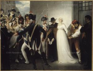 Die letzten Stunden von Marie Antoinette in einem Gemälde
