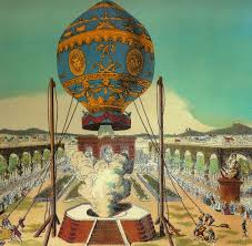 The balloon in Paris in 1783