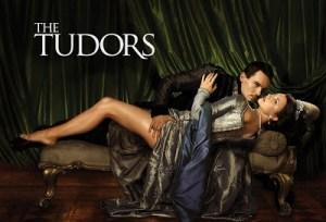 """Locandina della ficção & quot; The Tudors"""" (segunda série). Henry VIII com Ana Bolena, dependendo de sua 6 poderia"""