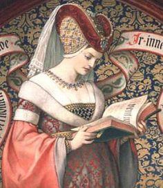 Uma mulher da Idade Média. O peito foi uma das partes do corpo que as mulheres se preocupavam mais