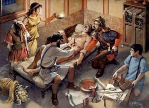 Desde el cirujano en la Antigua Roma. Los cálculos renales fueron tratados con terapias extrañas