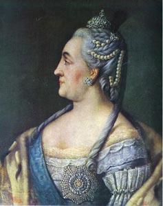 """Portrait of Catherine the Great, called & quot; the Great"""""""