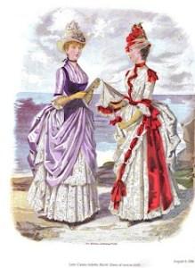 Moda femminile ottocentesca. Le gonne erano lunghe