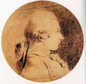 Presunto Retrato de los años veinte Marqués de Sade