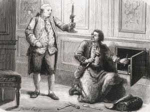 """Luis XVI ordenó el herrero Francois Gamain la construcción de la famosa & quot; armario de hierro"""""""