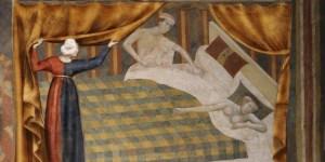 Um casal na Idade Média. O sexo foi proibido em alguns dias