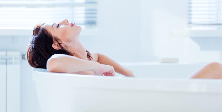 warm bath before sleeping