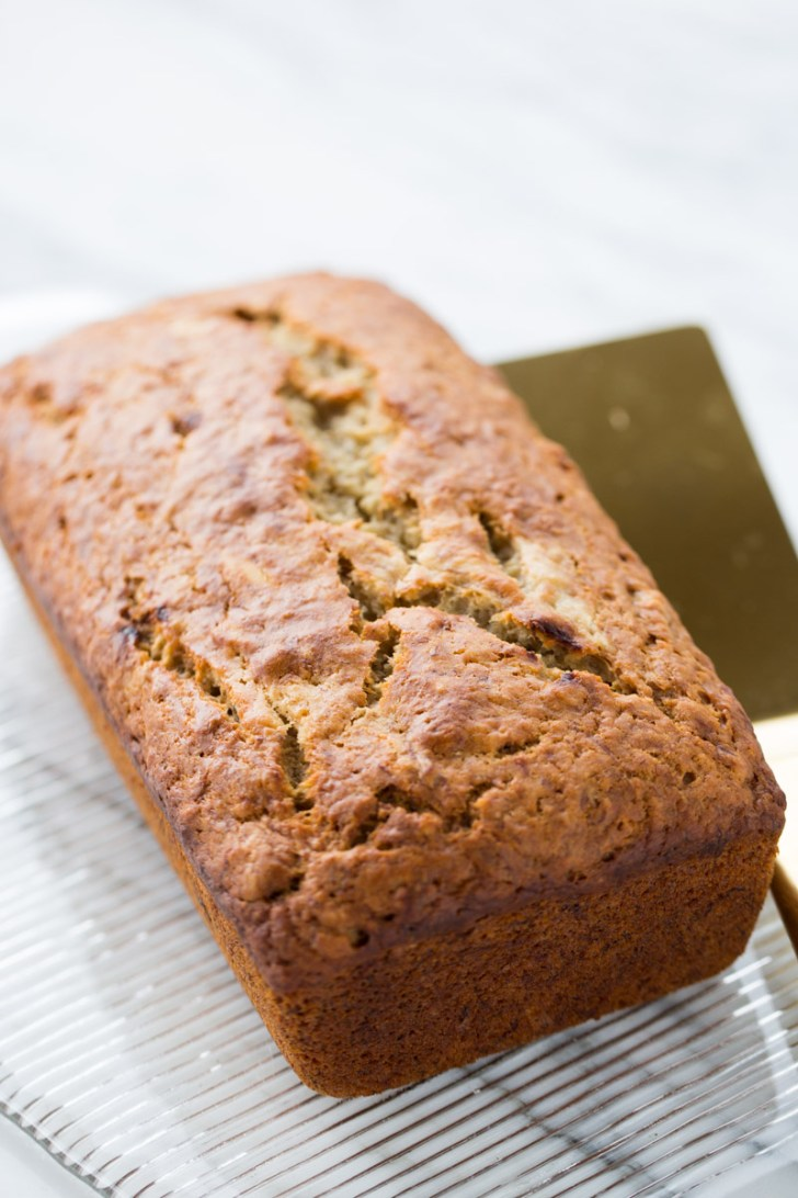 pan de avena y banana vegano
