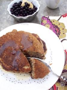 Hotcakes de platano y almendra. Sanos, deliciosos y veganos.