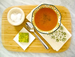 sopa de pimiento y tomate