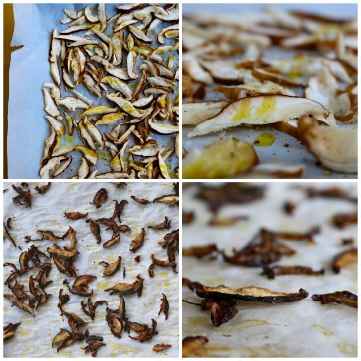 steps on how to make skiitake mushroom crisps