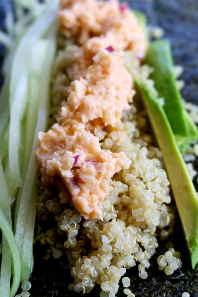 Sushi de quinoa