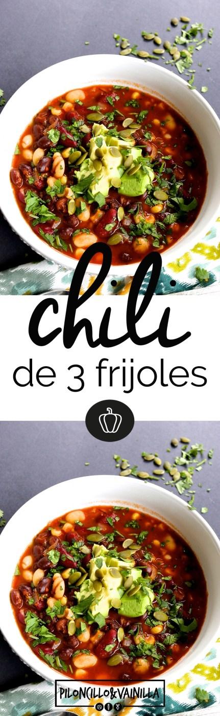 Chili de tres frijoles