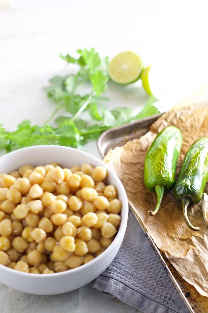 Hummus con Jalapeño, jalapeño hummus