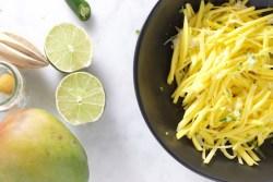 Ensalada de mango verde