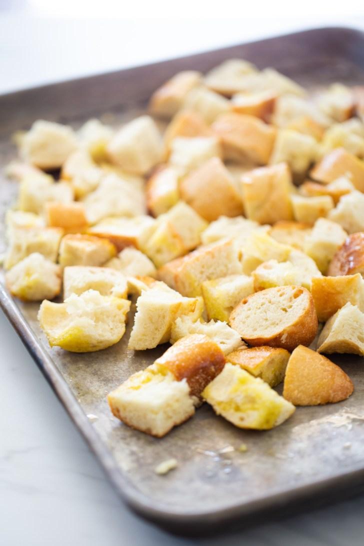Pan para hacer crutones