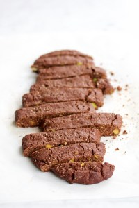 Biscotti de chocolate y pistache.p&V
