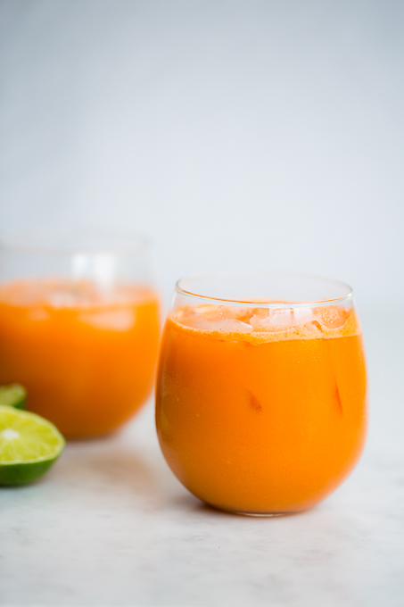 carrot, cucumber and apple juice