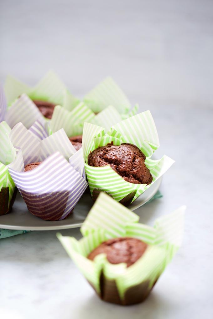 Muffins de chocolate vegan, super ricos y bien fáciles de hacer