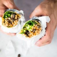 Healthy Mexican burritos