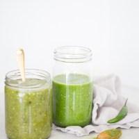 Salsa verde mexicana de dos maneras