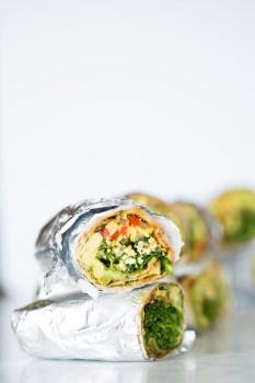 Burritos con verduras, deliciosos, veganos y bien fáciles de hacer