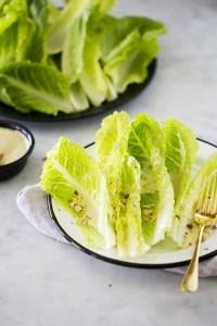 receta de ensalada cesar vegana.
