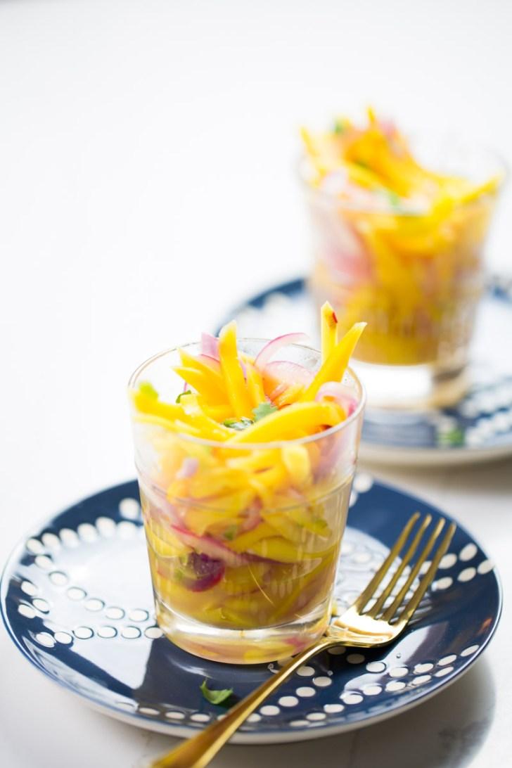 ceviche de mango vegano