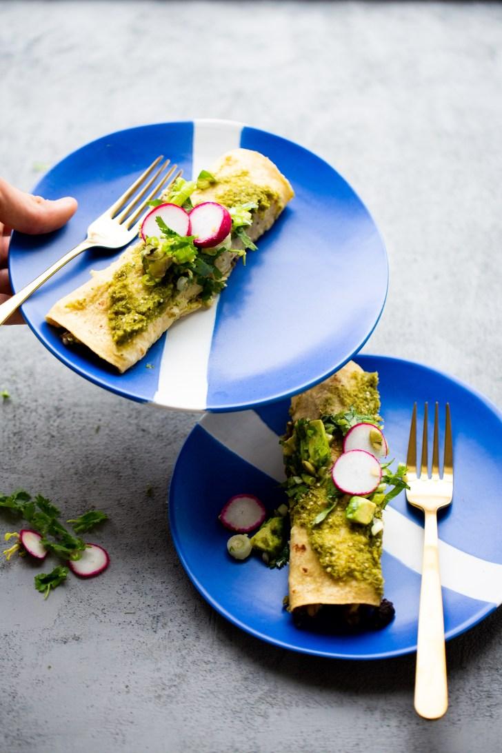 Enchiladas verdes super rápidas