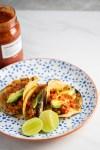 Tacos de picadillo de lentejas: Picadillo vegano