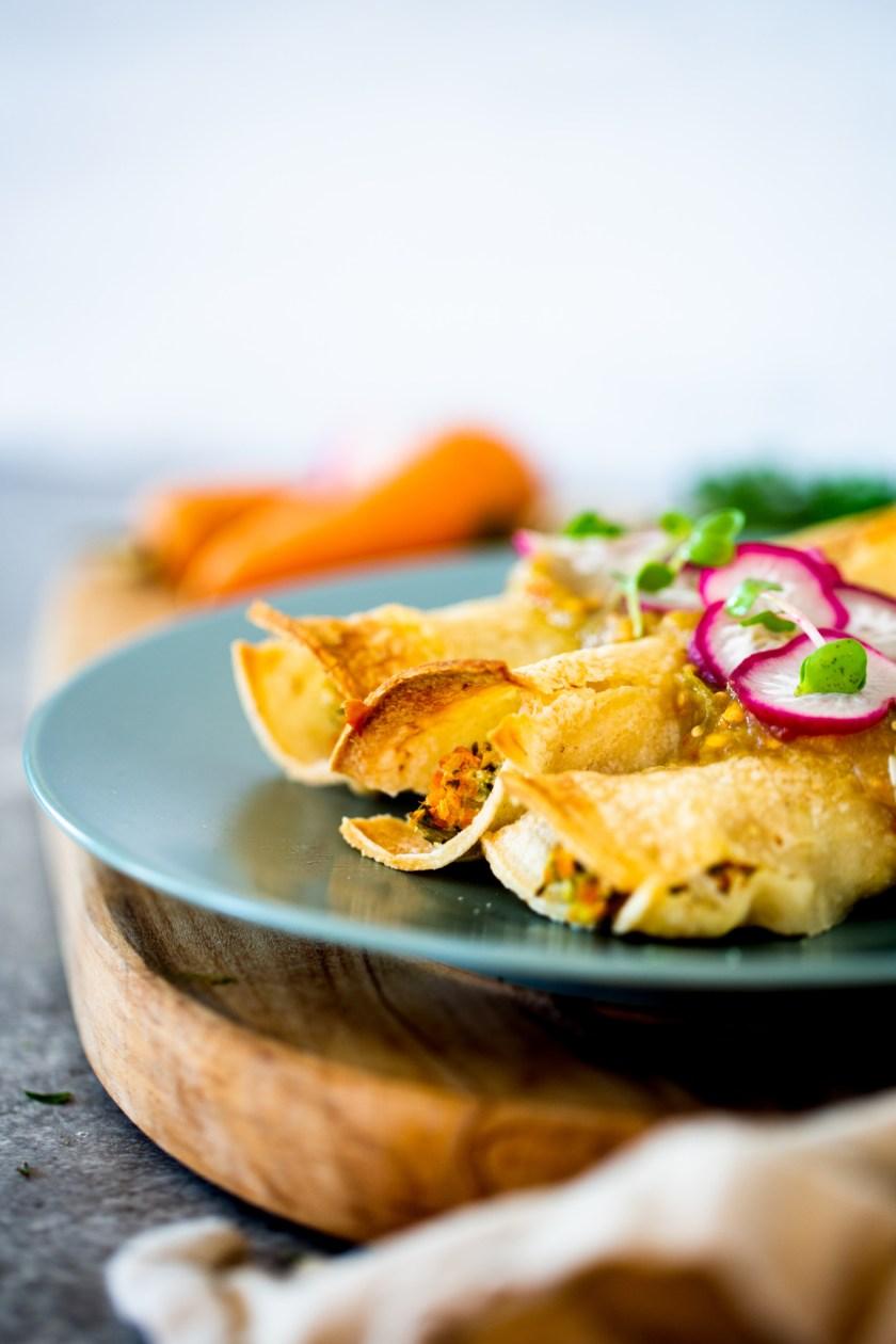 Tacos de zanahoria al horno