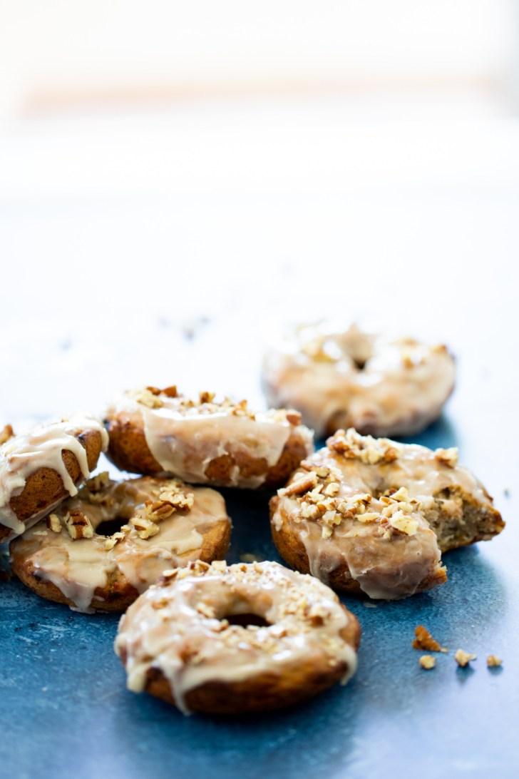 vegan banana donuts