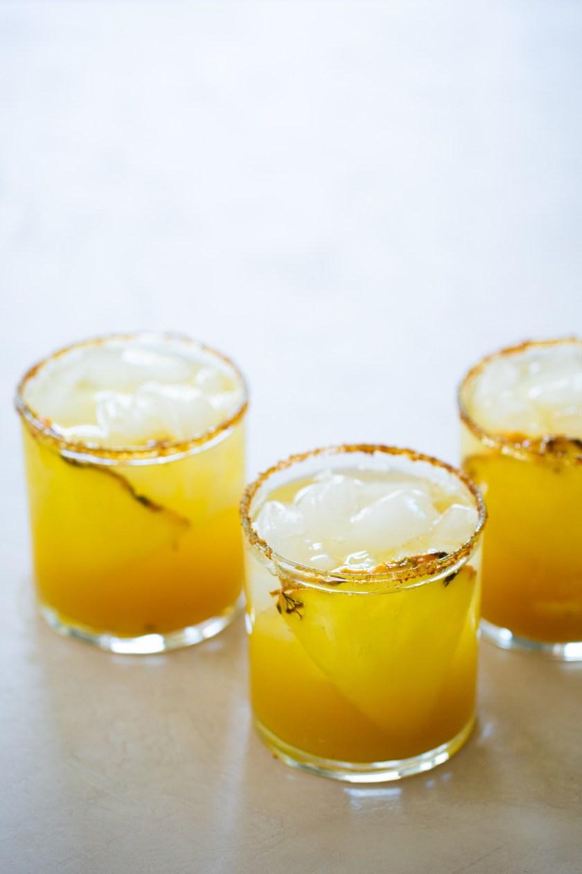 3 vasos de margarita sin alcohol