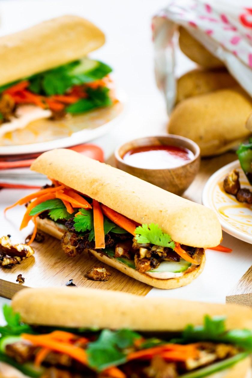 BANH-MI vegano de coliflor y sin gluten