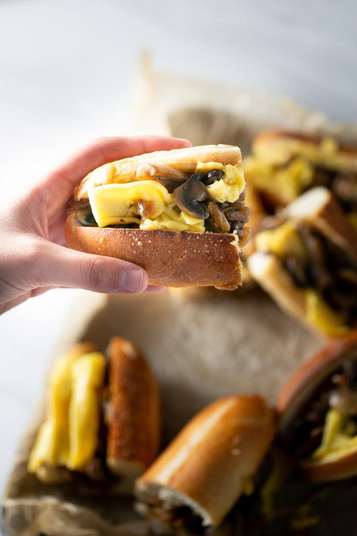 Sandwich de champiñón