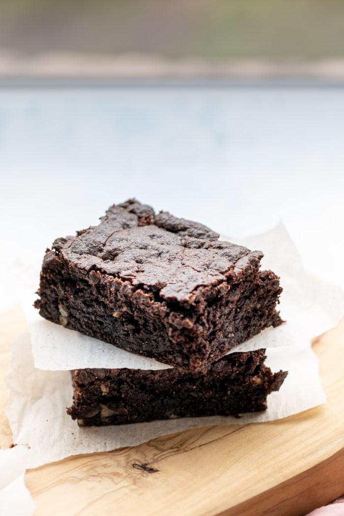 brownies veganos casi sin harina
