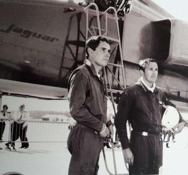 Commandant Gautier et capitaine Rolland (officier mécanicien)