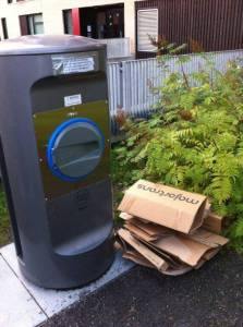 Dette skal ikke i nedkastet, men leveres på avfallsstasjoner.