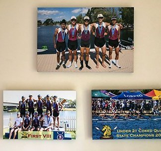 MHS Rowing Photos on Canvas
