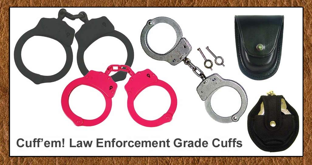 Law Enforcement Grade handcuffs From Thomas Collector's Armory- www.pimall.com/nais