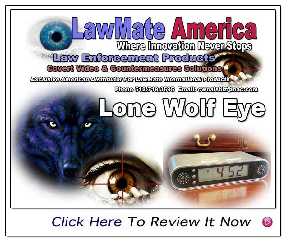 Lone Wolf Eye From Lawmate- New Generation Click Radio Covert Video- www.pimall.com/nais